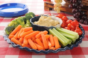 Healthy vegetable tray