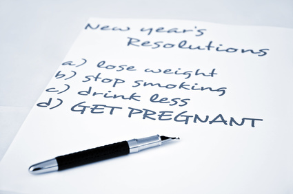 New year resolution get pregnant