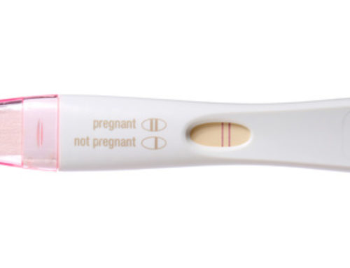 Doing a pregnancy test